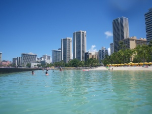 Waikiki Beach from the water